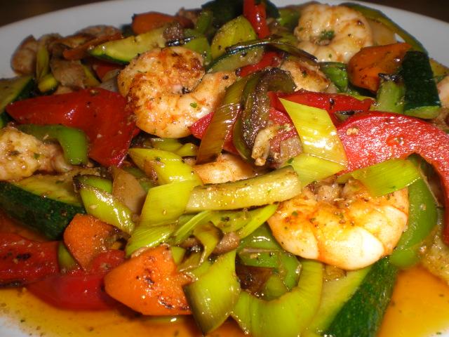 verduras wok